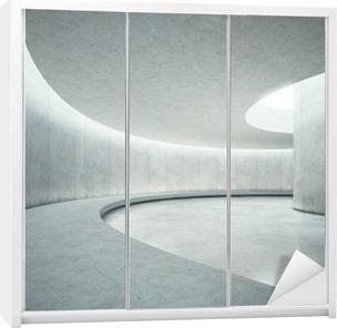b3009dd5f0957c Naklejka na szafę Puste wnętrze betonu otwarta przestrzeń z promieni  słonecznych