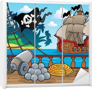 Naklejka na szafę Statek piracki pokład temat 4