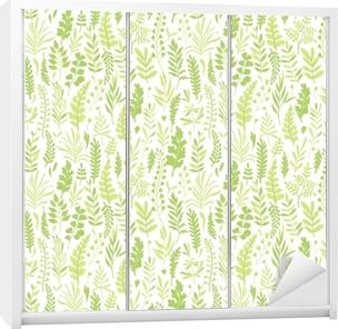Naklejka na szafę Wzór z liśćmi