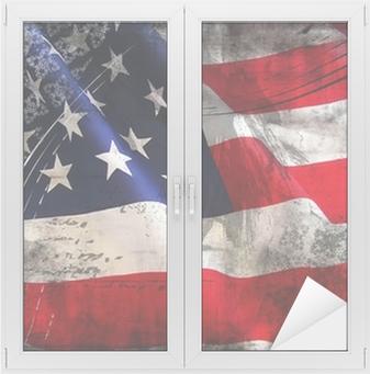 Naklejka na szybę i okno Flaga Stanów Zjednoczonych (Stany Zjednoczone Ameryki)