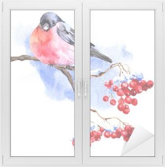 Obraz Na Plotnie Zima Akwarela Z Bullfinches O PixersR Zyjemy By Zmieniac
