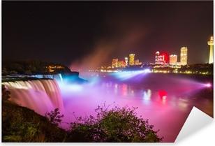 Naklejka Pixerstick Niagara Falls pokaz świateł w nocy