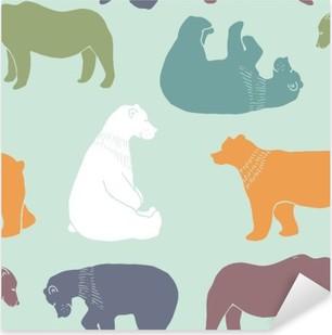 Naklejka Pixerstick Niedźwiedzie wzór.