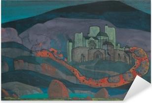 Naklejka Pixerstick Nikołaj Roerich - Potępione miasto