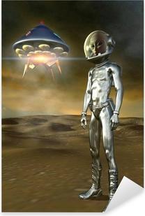Naklejka Pixerstick Obcych i ufo
