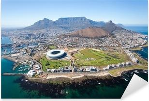 Naklejka Pixerstick Ogólny widok z lotu ptaka od Cape Town, Republika Południowej Afryki