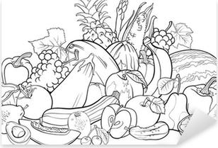 Plakat Owoce I Warzywa Dla Kolorowanka Pixers żyjemy By Zmieniać