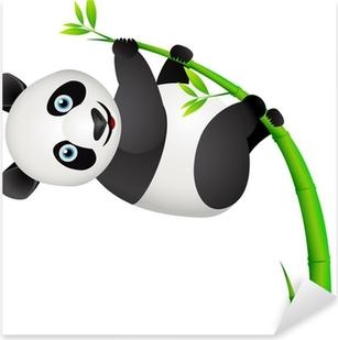 Naklejka Pixerstick Panda i bambusa drzewo