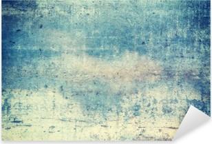 Naklejka Pixerstick Pionowo zorientowane w kolorze niebieskim tle grunge