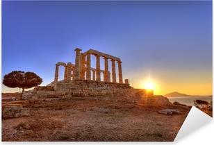 Naklejka Pixerstick Poseidon Świątynia, Cape Sunion, Grecja
