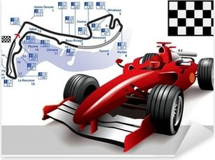 Naklejka Pixerstick Poster Monaco Grand Prix Formuły 1