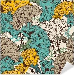 Naklejka Pixerstick Powtarzalne kwiatowy tekstury