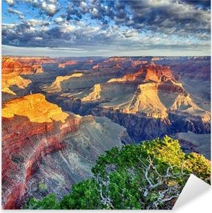 Naklejka Pixerstick Promienie poranka w Wielkim Kanionie