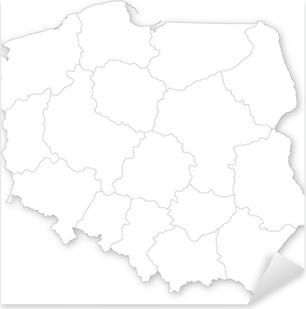 Naklejka Wektorowa Mapa Polski Z Wojewodztw Pixers Zyjemy By
