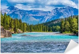 Naklejka Pixerstick Przepiękny krajobraz Kanadyjskich gór