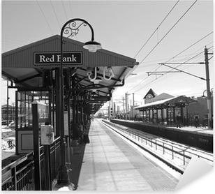 Naklejka Pixerstick Red Bank station