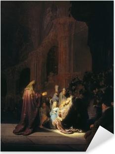 Naklejka Pixerstick Rembrandt - Symeon w świątyni