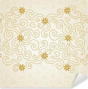 Naklejka Pixerstick Rocznika powtarzalny granicy z koronkowym ornamentem.