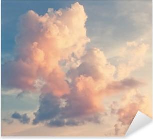 Naklejka Pixerstick Różowe chmury na niebieskim niebie
