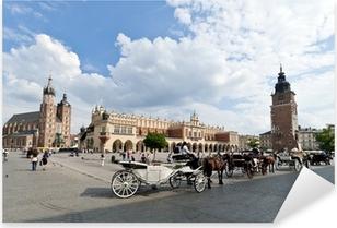 Naklejka Pixerstick Rynek Starego Miasta w Krakowie, Polska