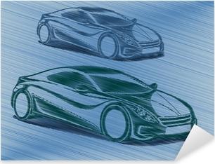 Naklejka Pixerstick Samochody wyścigowe