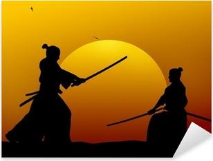 Naklejka Pixerstick Samuraj