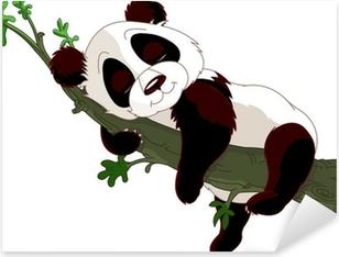 Naklejka Pixerstick Sleeping Panda na gałęzi
