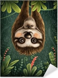 Naklejka Pixerstick Śliczne leniwce
