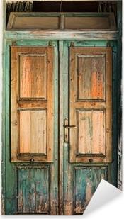 Naklejka Pixerstick Stare drewniane drzwi