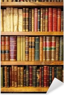 Naklejka Pixerstick Stare książki, biblioteki