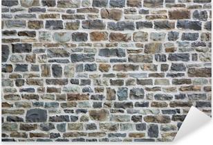 Naklejka Pixerstick Stary ceglany mur w tle lub
