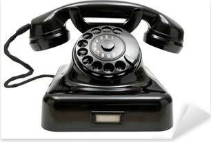 Naklejka Pixerstick Stary telefon