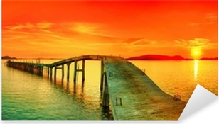 Naklejka Pixerstick Sunset Panorama