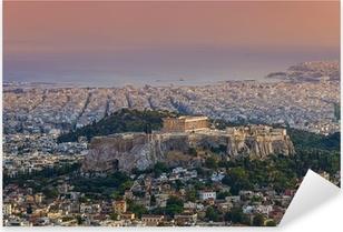 Naklejka Pixerstick Świątynia Partenon na ateńskim Akropolu, Grecja