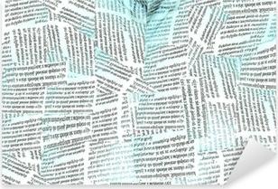 Naklejka Pixerstick Tapeta gazeta