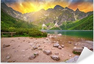 Naklejka Pixerstick Tatry o zachodzie słońca
