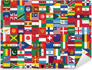 Naklejka Pixerstick Tło z ikon World Flags