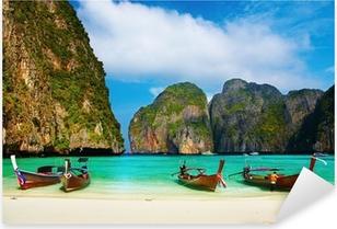 Naklejka Pixerstick Tropikalna plaża, Maya Bay, Tajlandia