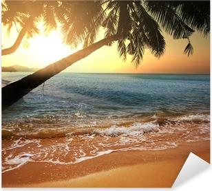 Naklejka Pixerstick Tropikalna plaża