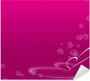 Naklejka Pixerstick Walentynki karta tapety tło plakatu