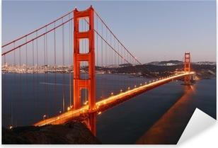 Naklejka Pixerstick Widok na Most Golden Gate San Francisco / USA