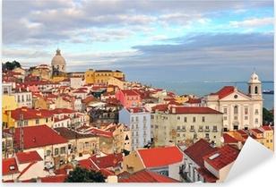 Naklejka Pixerstick Wielokolorowe domy Lizbonie