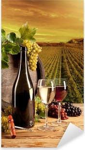 Naklejka Pixerstick Wina w winnicy