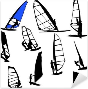 Naklejka Pixerstick Windsurfing wektor