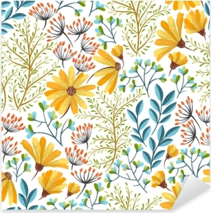 Naklejka Pixerstick Wiosna kwiatowy wzór