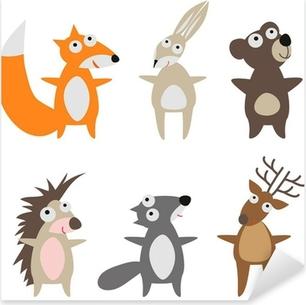 Naklejka Pixerstick Zestaw dzikich zwierząt