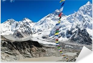 Naklejka Pixerstick Zobacz Mount Everest w Nepalu