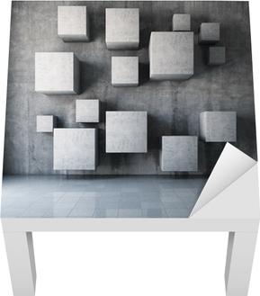 5f83965cfa Fototapeta Abstract beton 3d interiér s kostkami na zeď • Pixers® • Žijeme  pro změnu