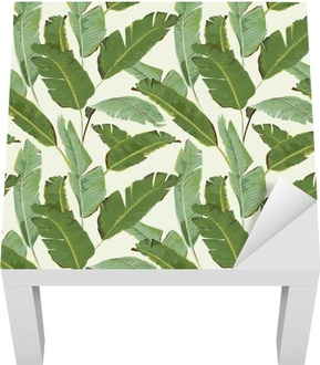 Bezešvé vzor. Tropical Palm listy pozadí. banánové listy