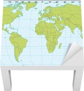 Plakat Mapa Sveta Se Souradnicemi Aktualni Verze Obsahovala Jizni